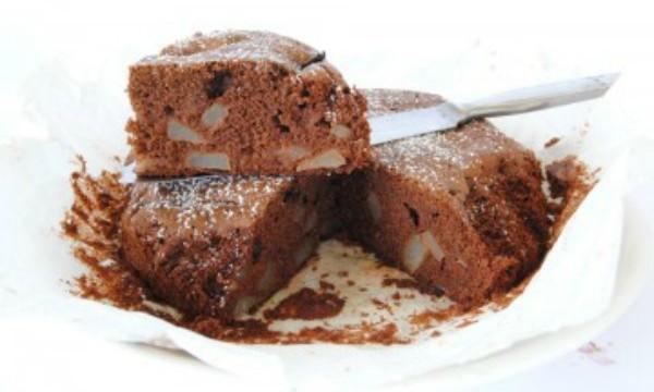 Torta pere formaggio gruè di cacao