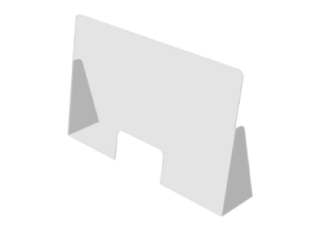 paratia trasparente con passacarte